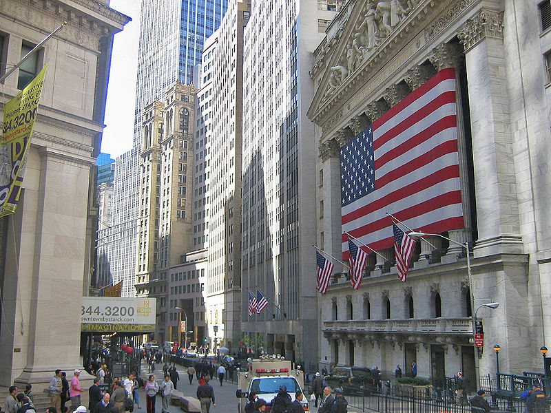 New York Stock Exchange - Image courtesy of Wikipedia, This file is licensed under the Creative Commons Attribution-Share Alike 3.0 Unported license