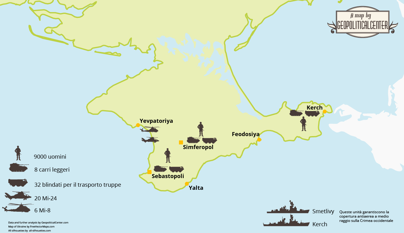 Le forze russe in Ucraina – Infografica